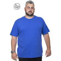 922279ca4 Camiseta Plus Size Bigshirts Lisa - Azul Royal