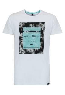 Camiseta Hd Retrô Hibiscus - Masculina - Branco