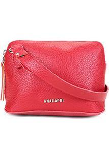 Bolsa Anacapri Mini Bag Eco Ravena Transversal Feminina - Feminino-Vermelho