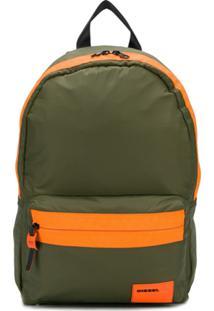 Diesel Panelled Backpack - Verde
