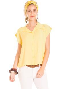 Camisa Mercatto Lisa Amarelo