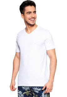 Camiseta Vide Bula Slim Com Estampa Branca
