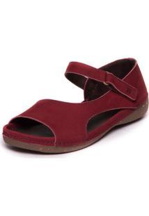 Sandalia Vermelha - Sued Marsala 492