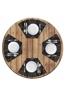 Jogo Americano Love Decor Para Mesa Redonda Wevans Pizza Kit Com 4 Peças