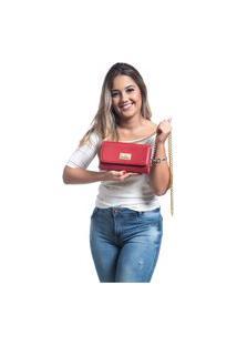 Bolsa Willibags Transversal Clutch Vermelha