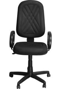 Cadeira Pethiflex Pp-02Gpbp Giratória Couro Preto