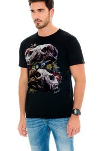Camiseta Lavish Urso Caveiras Preta