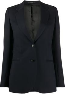 Paul Smith Blazer Slim Com Abotoamento Simples - Azul
