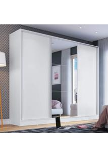 Guarda Roupa Casal 3 Portas 1 Espelho London Espresso Móveis Branco