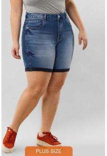 Shorts Jeans Com Elastano Jeans