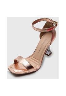 Sandália Dakota Salto Taça Rosê