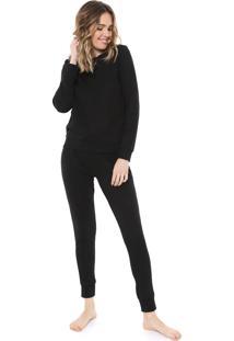 Pijama Malwee Liberta Básico Preto