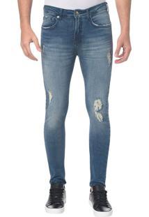 Calça Jeans Five Pockets Ckj 016 Skinny - Azul Médio Calça Jeans Five Pockets Skinny - Azul Médio - 46