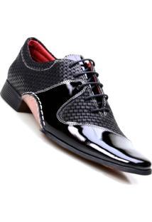 Sapato Social Masculino Em Couro De Amarrar Calvest - Masculino