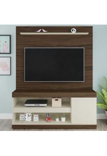 Estante Para Tv Até 60 Polegadas Capri Amêndoa/Off White - Artely