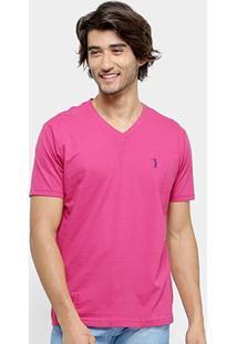 Camiseta Aleatory Bordado Masculina - Masculino-Pink