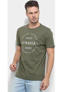 Camiseta O'Neill Wind & Sea-4887B - Masculino-Verde