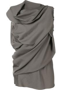 Rick Owens Blusa Com Detalhe De Nó - Neutro