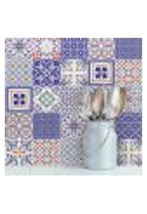 Adesivo De Azulejo Azul Monte Belo 15X15 Para Cozinha 36Un