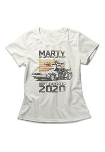 Camiseta Feminina Don'T Go To 2020 Off-White