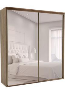 Guarda-Roupa Casal Com Espelho Luminum 2 Pt 6 Gv Ébano