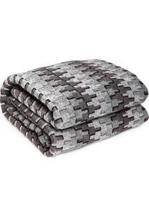 Colcha Casal Corttex Home Design Comfort Dream 180X220Cm Cinza