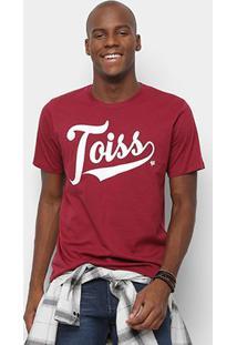 Camiseta Toiss Logo - Masculino-Bordô