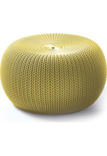 Puff Redondo Knit I Amarelo Keter