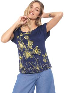 d9b39eb09 R$ 39,99. Dafiti Blusa Mercatto Floral Azul-Marinho