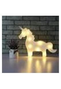 Luminária Led Abajur Luz Decoracão Modelo Cavalo Branco