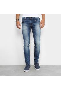 Calça Jeans Skinny Sawary Elastano Super Stone Masculina - Masculino