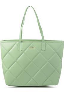 Bolsa Shopping Bag Matelassê Verde - Verde/Un