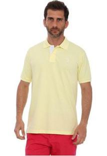 Camisa Polo Golf Club Slim Masculina - Masculino-Amarelo Claro