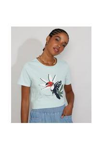 Camiseta Feminina Manga Curta Tucano Decote Redondo Verde Claro