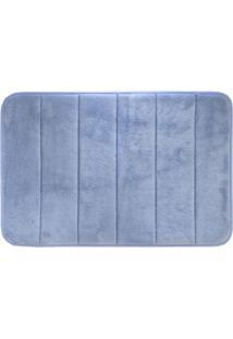 Tapete De Banheiro Super Soft- Azul- 60X40Cm- Cacamesa