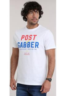 "Camiseta ""Post Gabber"" Branca"