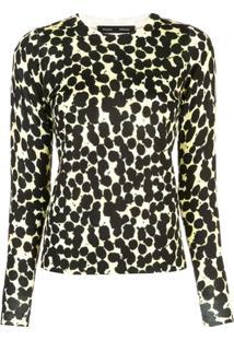 Proenza Schouler Blusa Decote Careca Com Poás De Lã Merino - Amarelo