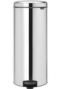 Lixeira New Icon- Inox & Preta- 68X29X38Cm- M.Cam.Cassab