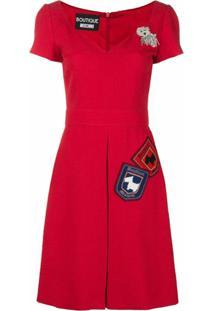 Boutique Moschino Vestido De Jacquard - Vermelho