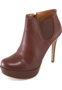 Ankle Boot Topgrife Elástico Marrom
