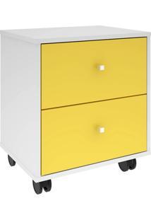 Gaveteiro Móveis Bechara Mb3015 Branco E Amarelo