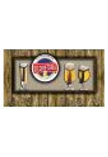 Cabideiro De Parede Porta Chaves Cintos E Toalhas - Cerveja