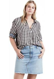 Camisa Levis Ryan One Pocket Boyfriend Plus Size Xadrez - Feminino