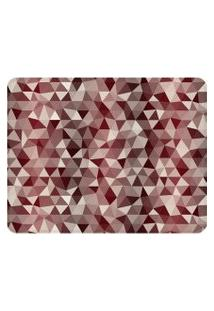 Tapete Love Decor Sala Wevans Multi Triângulos Vermelhos Único
