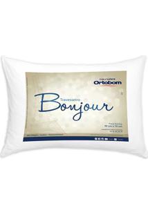 Travesseiro Bonjour 50X70 Cm - Ortobom - Branco
