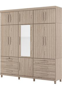 Guarda-Roupa Triton Plux Triplex 10 Portas Bege Móveis Albatroz