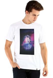 Camiseta Ouroboros Manga Curta Eu Sei Lá - Masculino-Branco