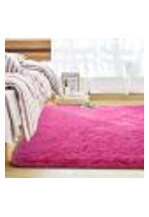 Tapete Saturs Shaggy Pelo Alto Rosa - 50 X 100 Cm Tapete Para Sala E Quartos
