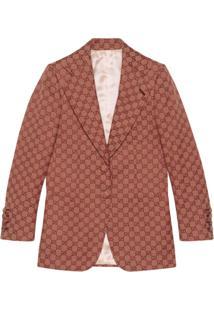 Gucci Blazer Com Estampa Gg Supreme - Vermelho