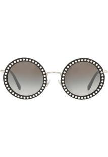 Miu Miu Eyewear Óculos De Sol 'Délice' - Preto